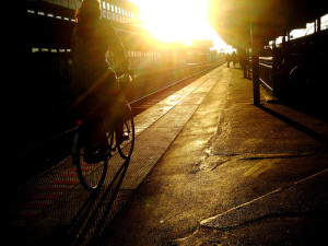 train platform cycling