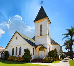 church building steeple