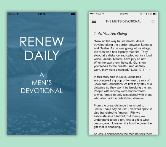 Renew Daily app