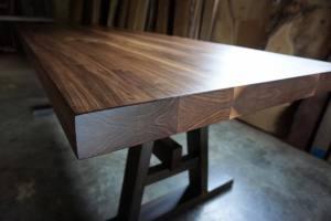 fahlman furniture walnut table